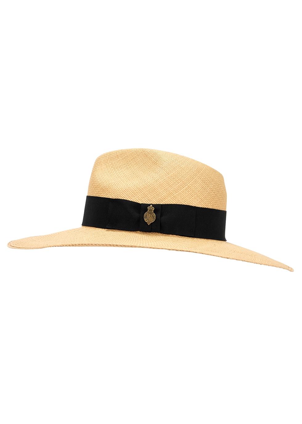 Jessica straw wide-brim panama hat