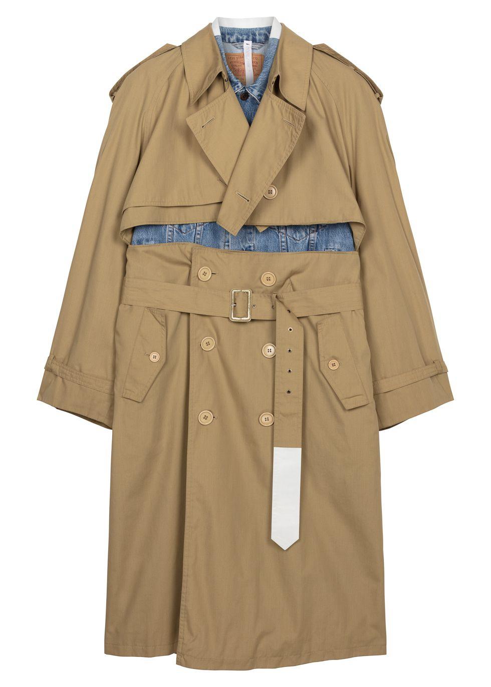 Levi's X Yves Saint Laurent panelled trench coat