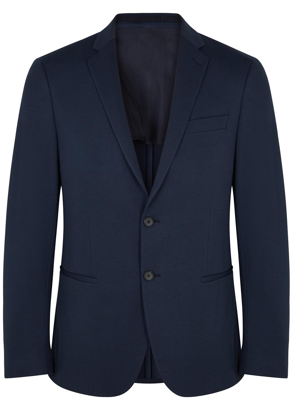 Norwin navy jersey blazer