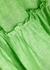 Green tiered linen midi skirt - Lisa Marie Fernandez