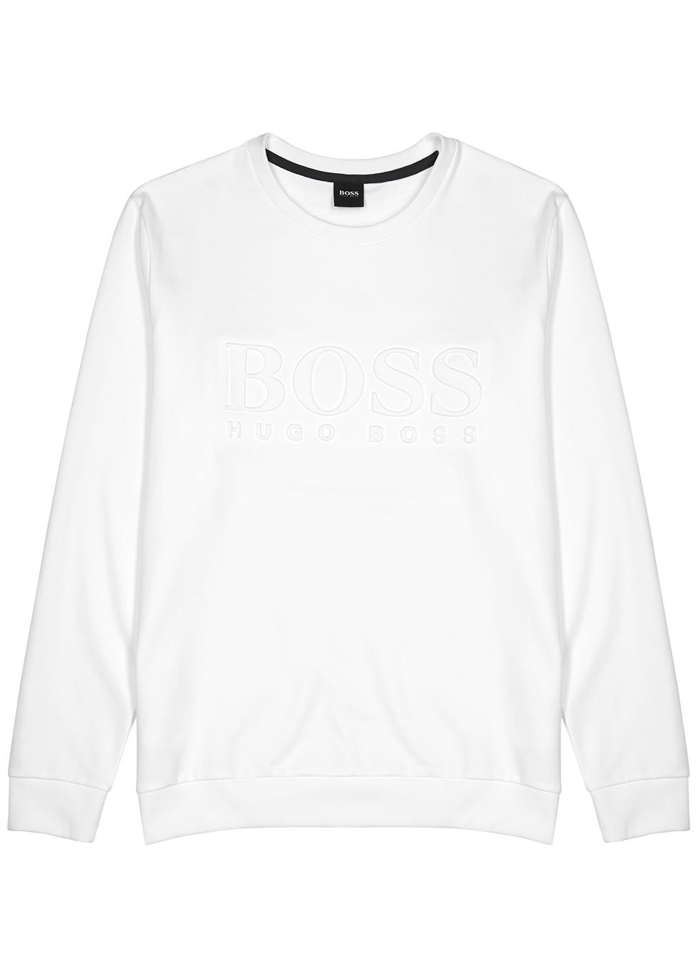 White logo cotton sweatshirt