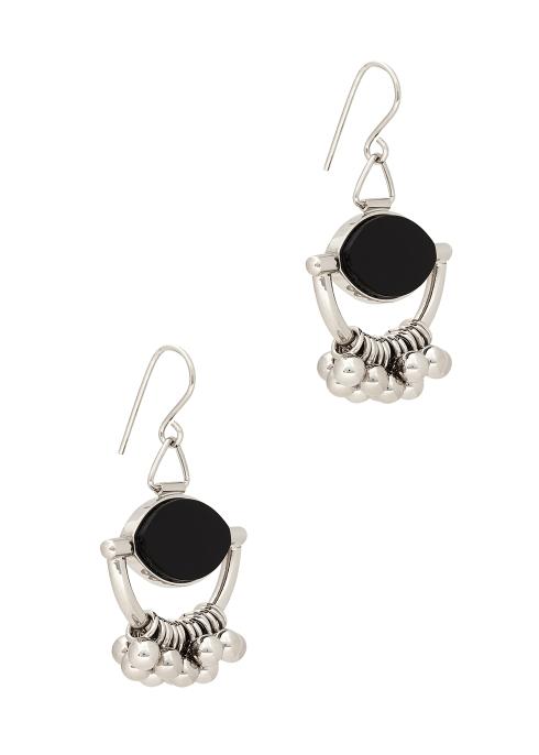 Jil Sander Silver-tone Drop Earrings