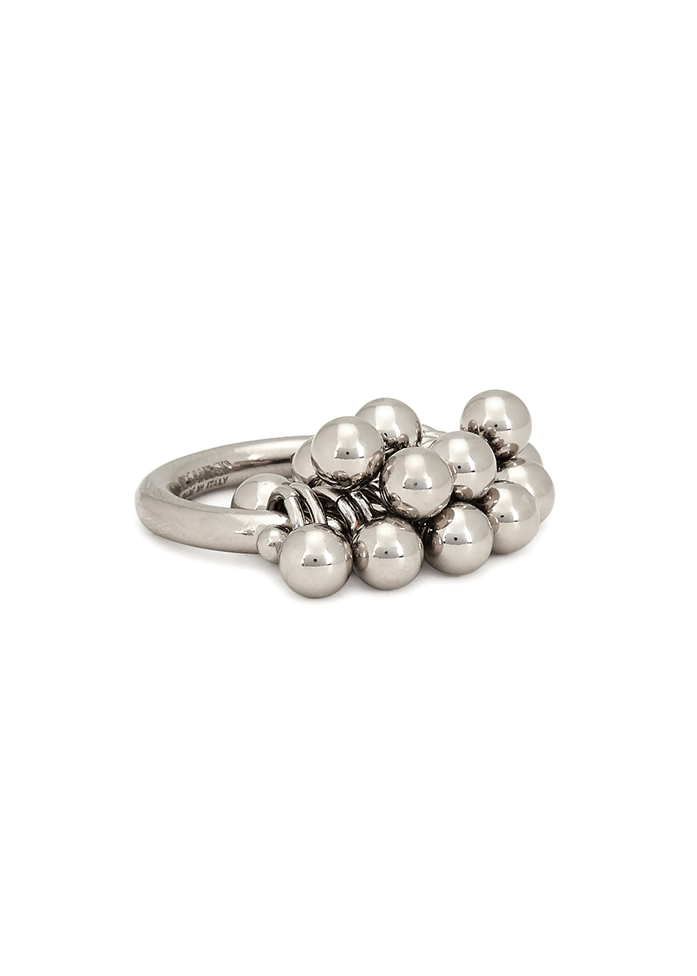Silver-tone bead ring