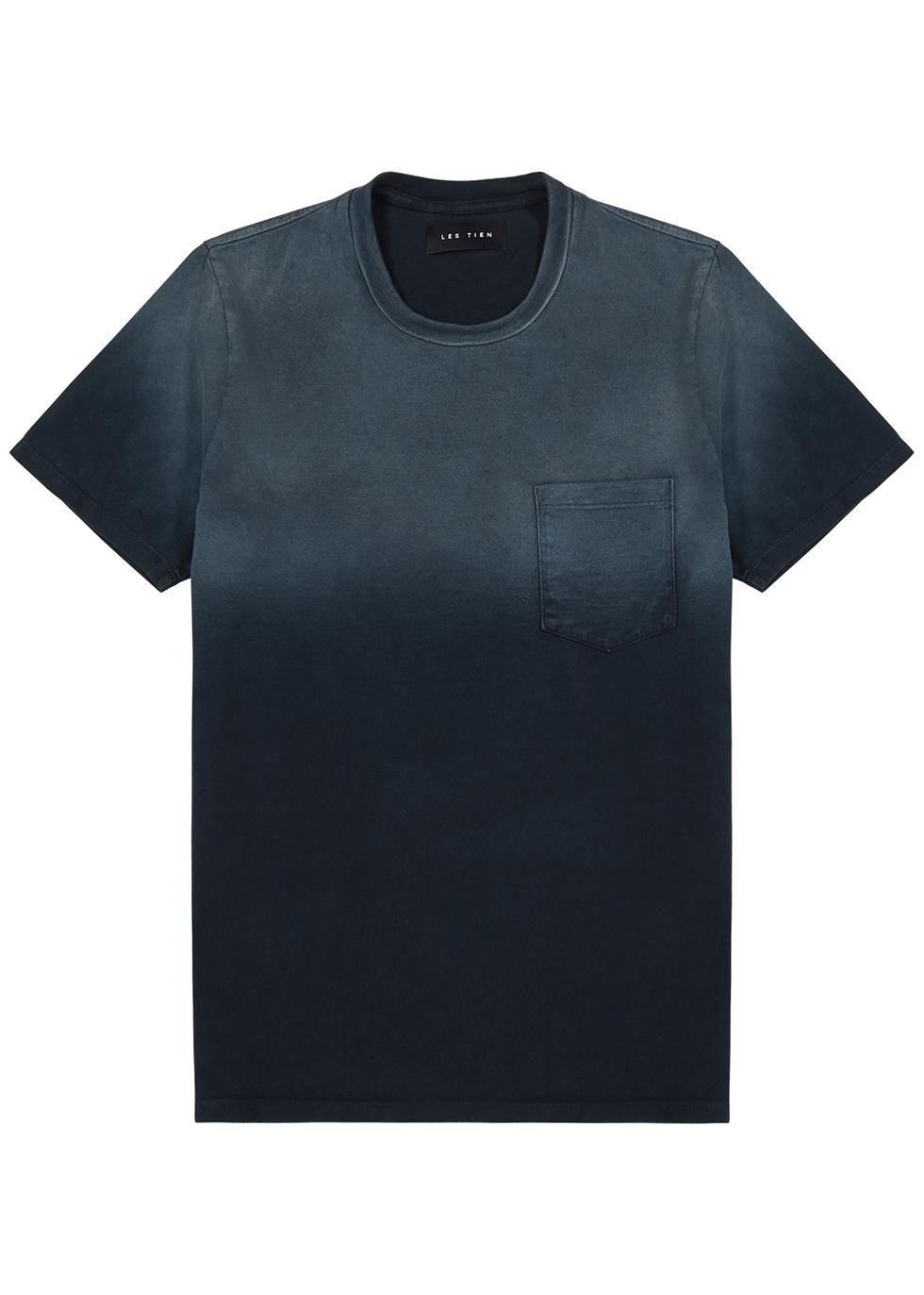 Navy dégradé cotton T-shirt