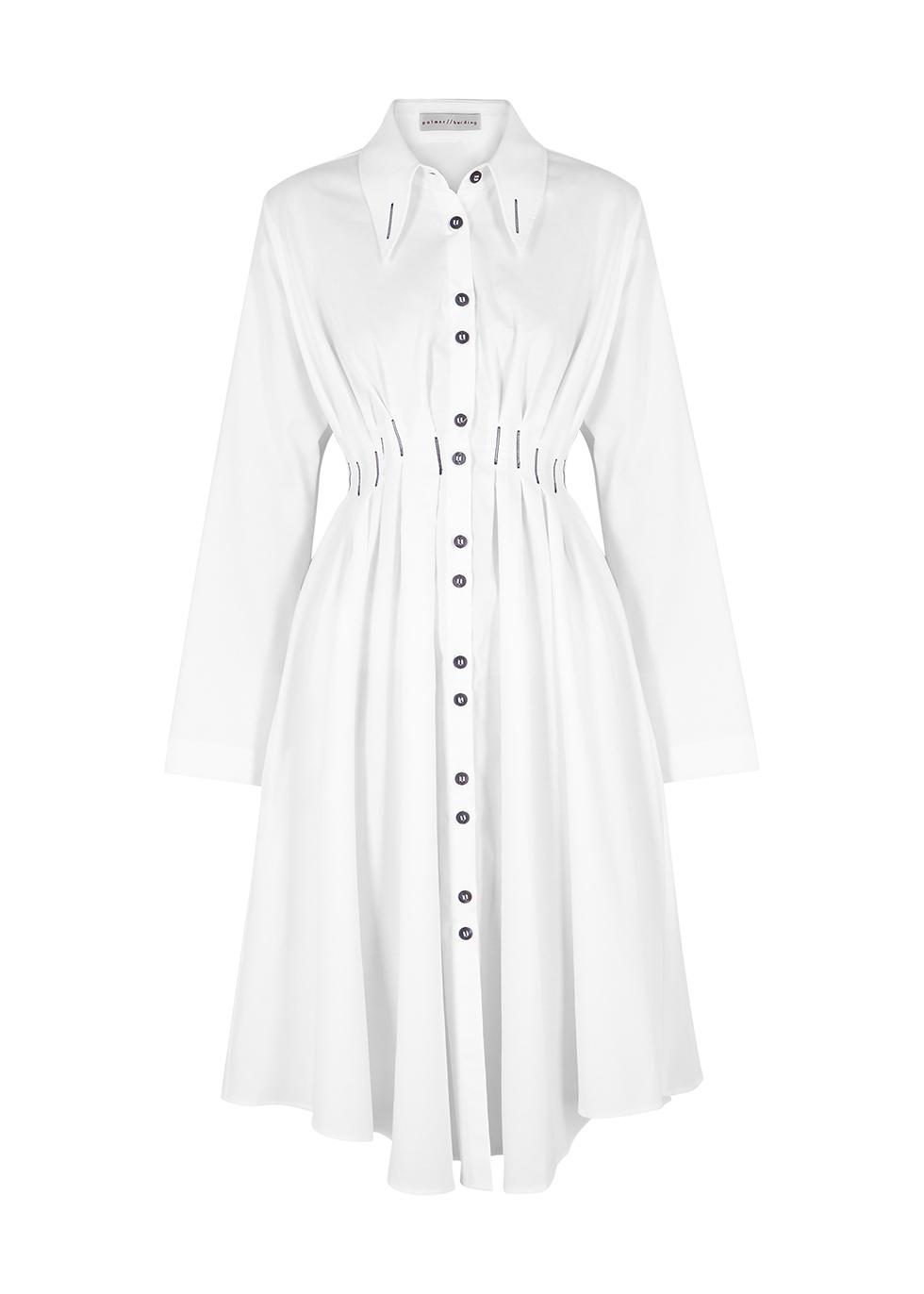 Palmer Harding ESCEN WHITE COTTON SHIRT DRESS