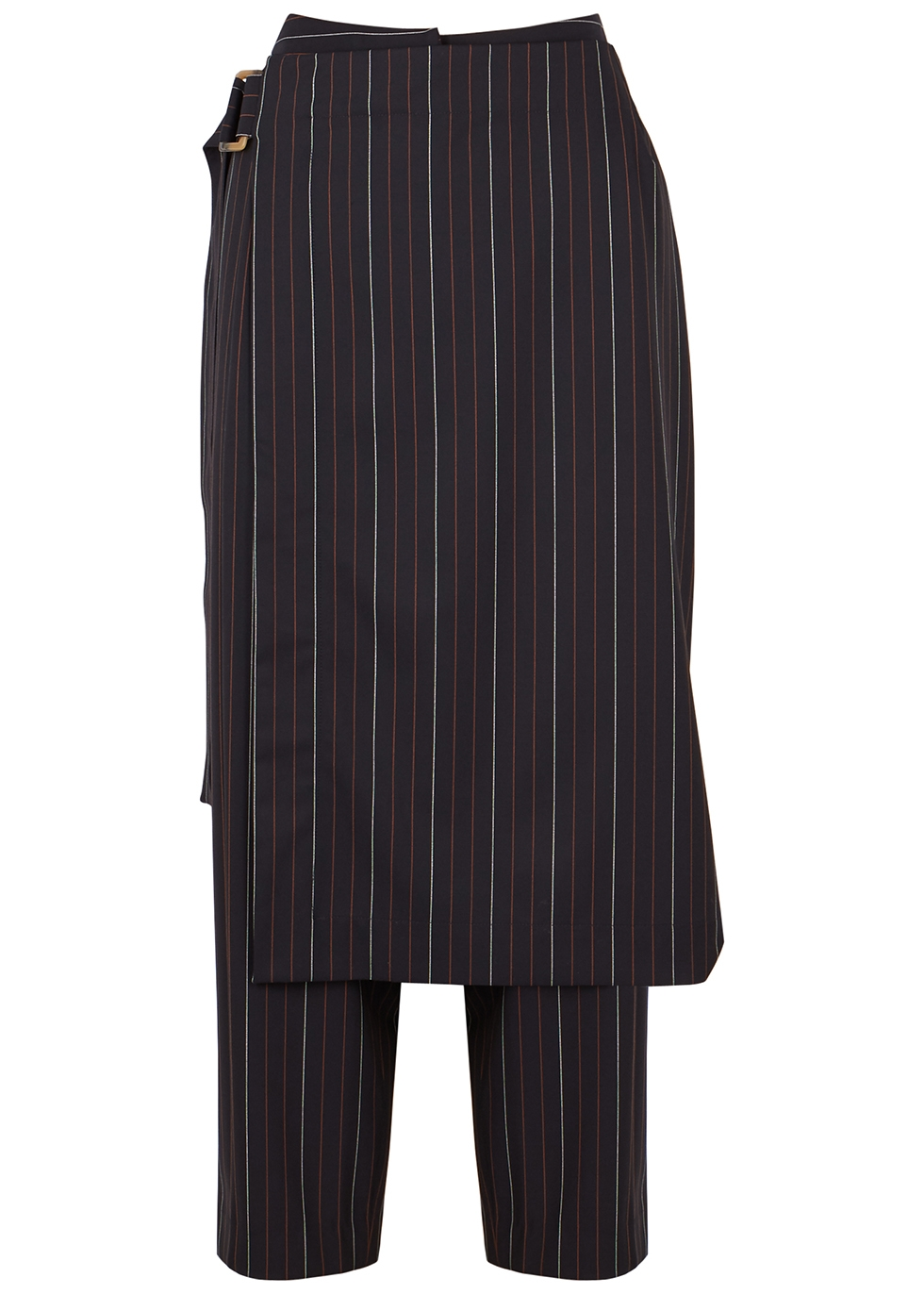Lina navy striped layered trousers
