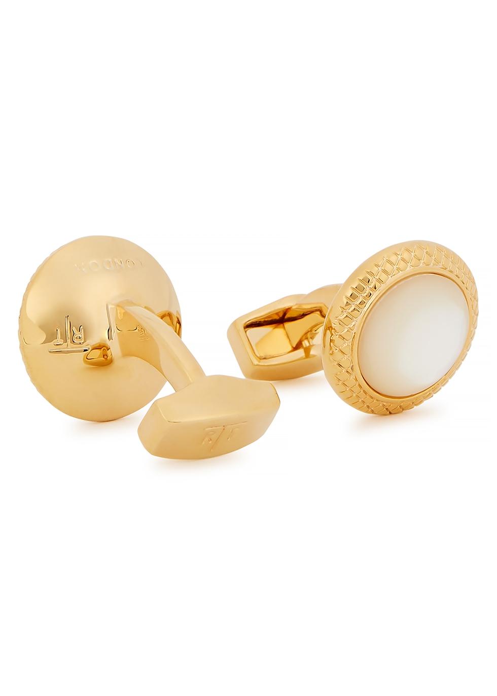 Bullseye gold-tone cufflinks
