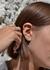 Turquoise heart hanging earrings pair - Rosa De La Cruz