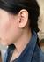 Turquoise and diamond heart charm earrings pair - Rosa De La Cruz