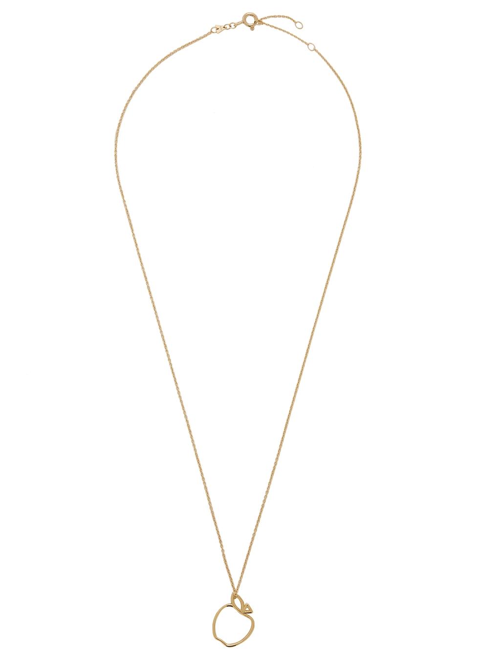 Manzana 9kt gold necklace