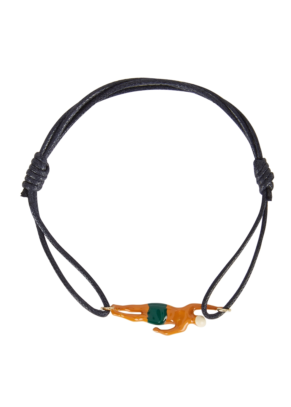 Nadador navy cord bracelet