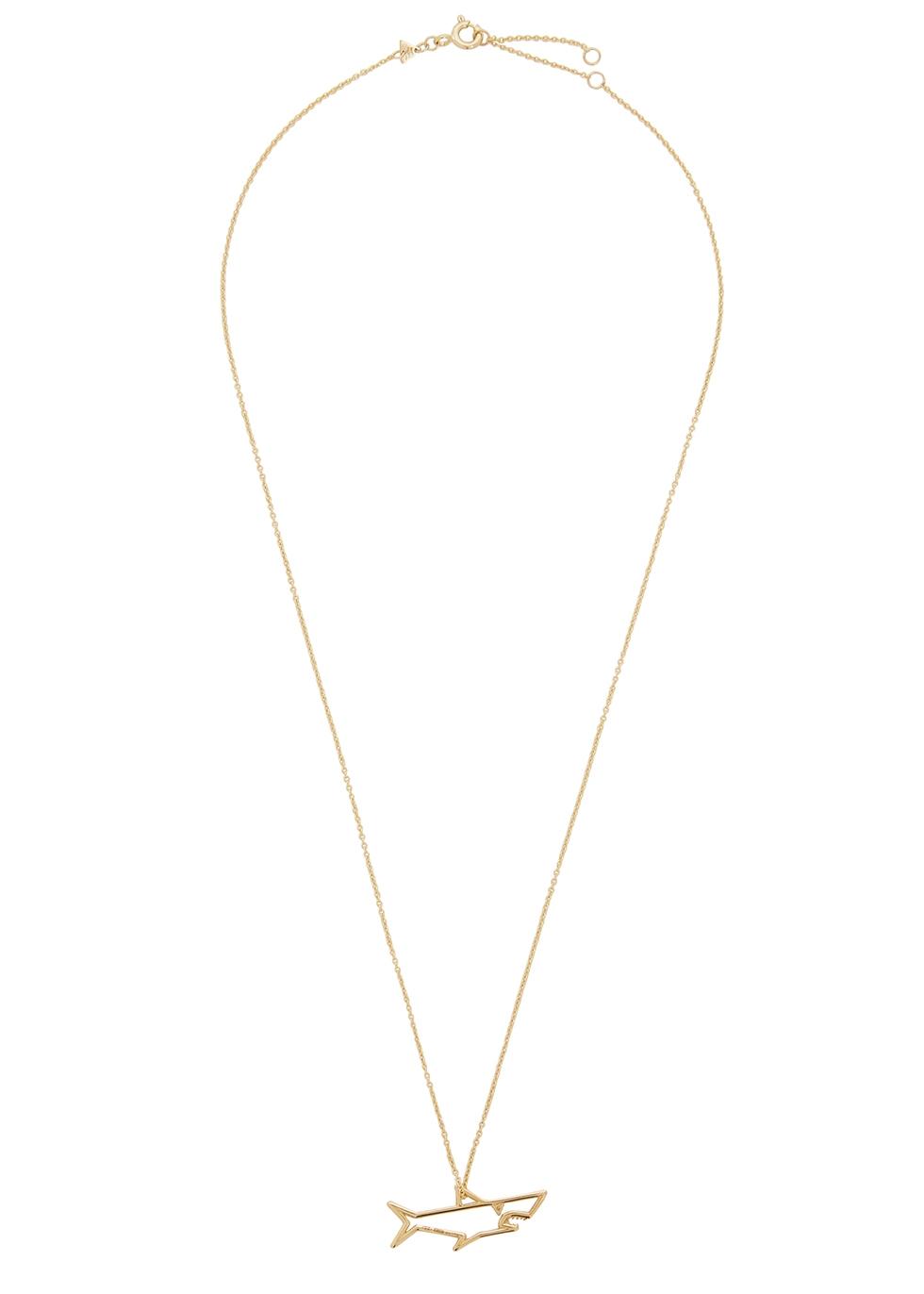 Tiburón Brillante 9kt gold necklace
