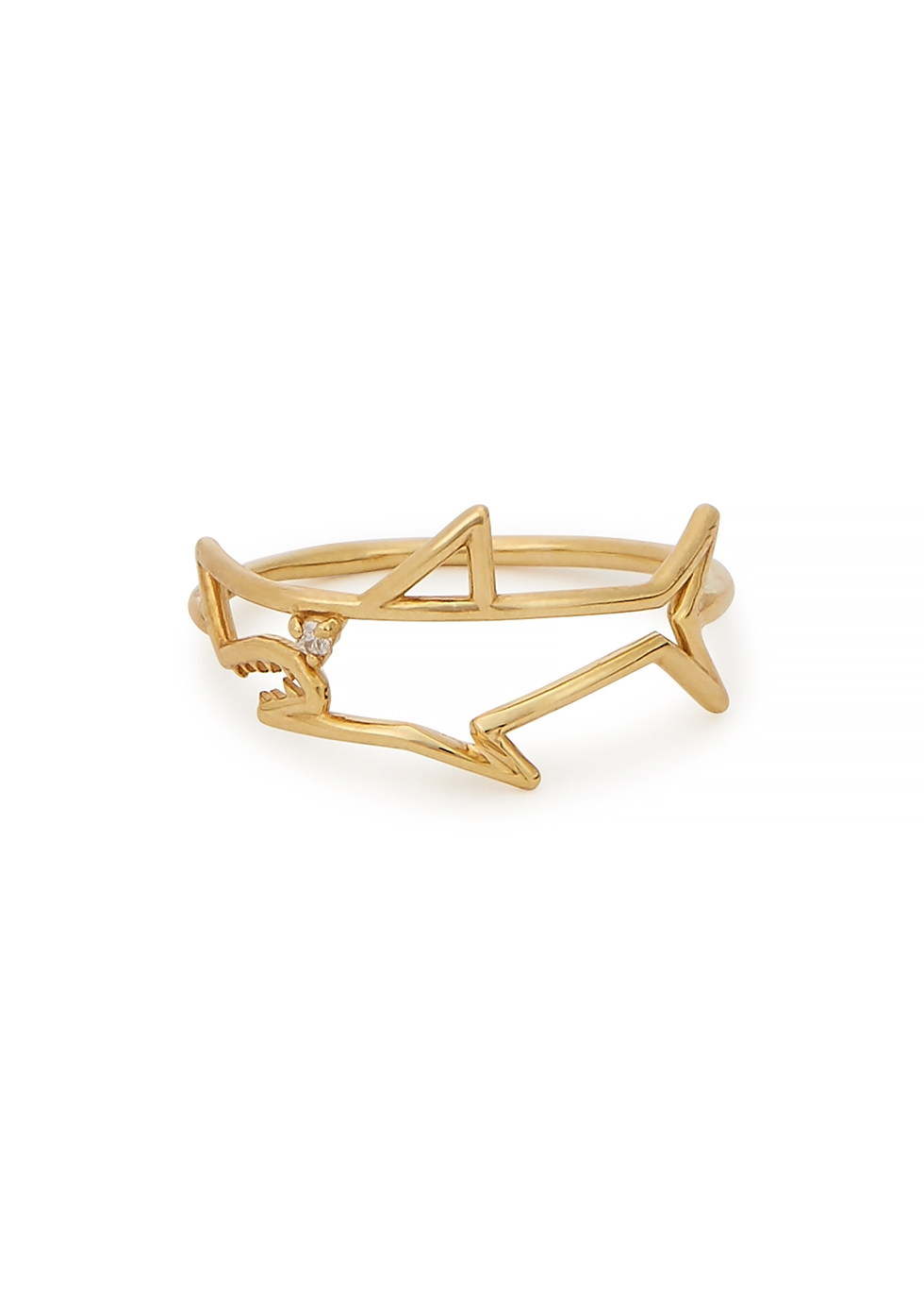 Tiburon Brillante 9kt yellow gold ring