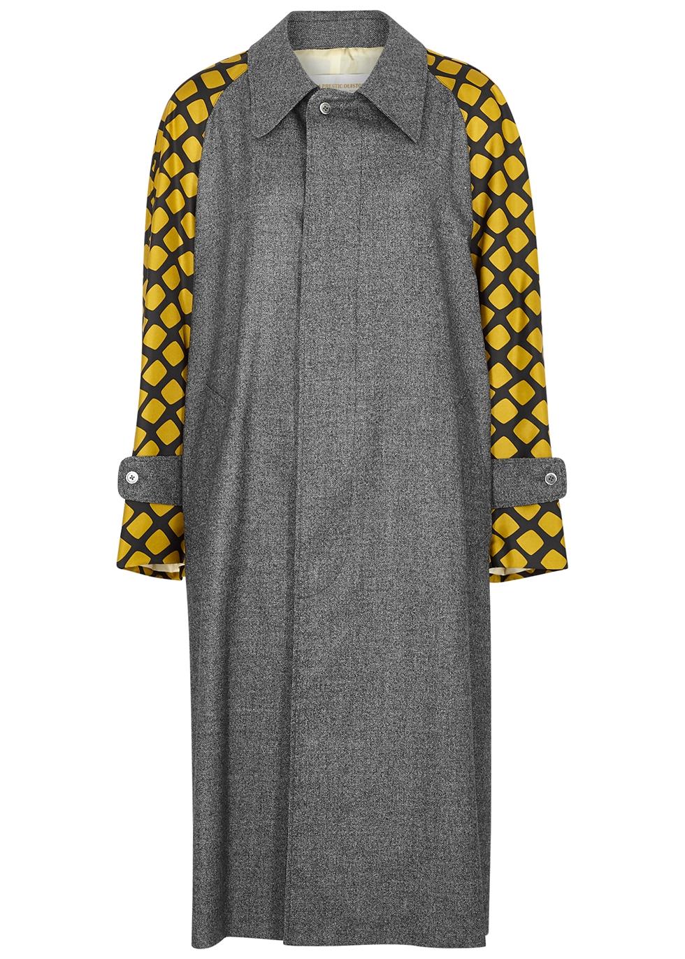 Marceau panelled wool coat