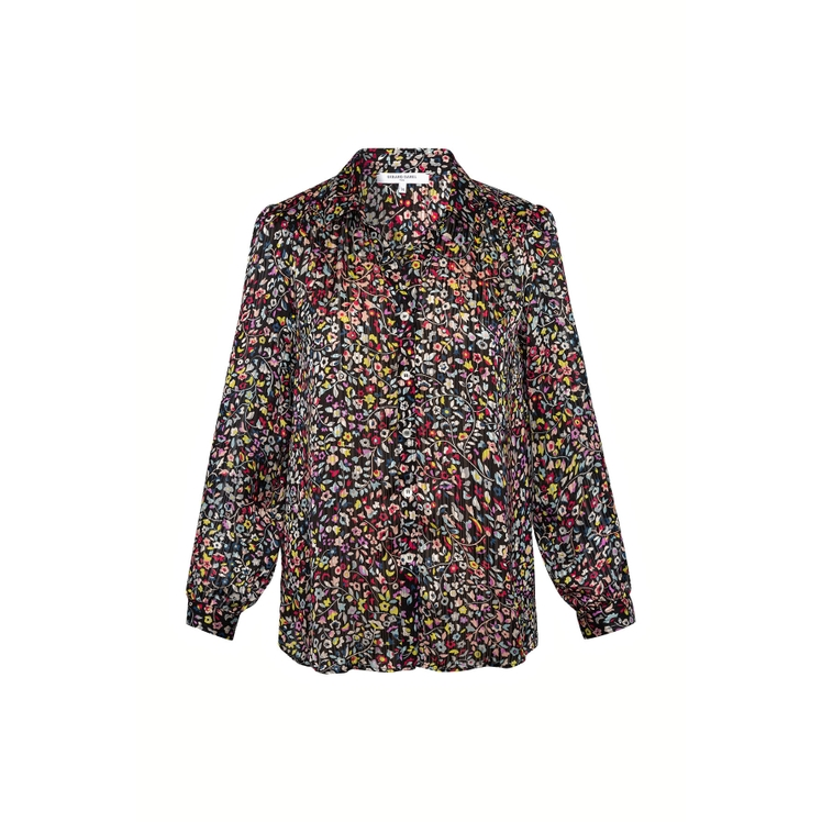 Gerard Darel Nilva - Loose-fitting Floral Print Shirt In Noir