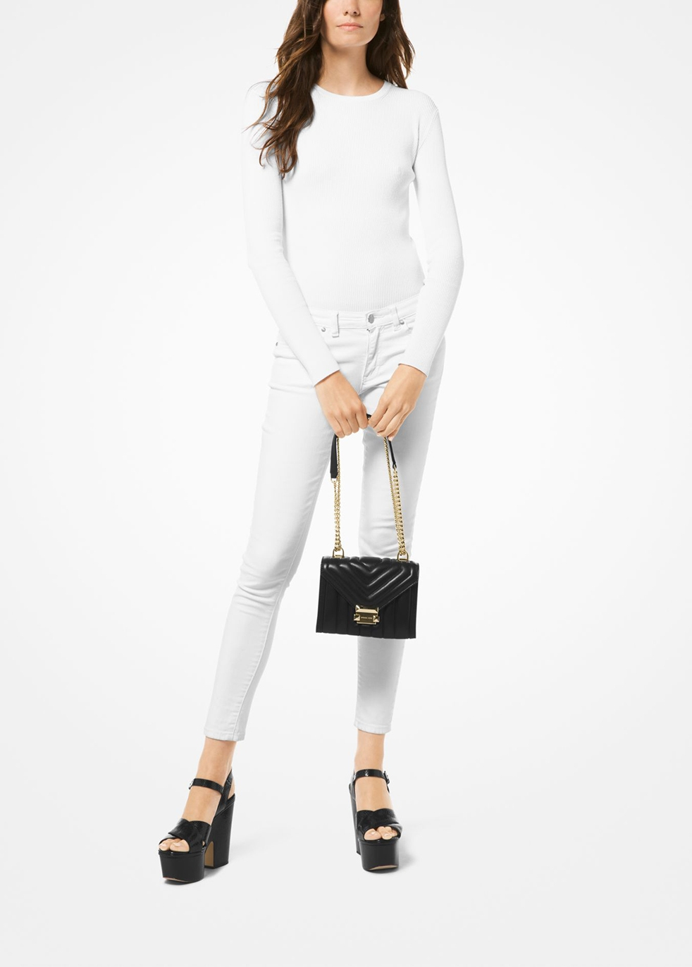 michael kors whitney small quilted shoulder bag