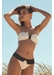 Capri bandeau bikini with flap bottom top cream - Valimare
