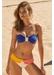 Capri bandeau bikini with flap bottom top deep blue - Valimare