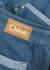 Blue stretch-denim shorts - Chloé