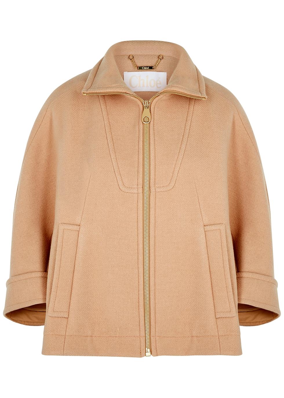 Blush wool-blend jacket