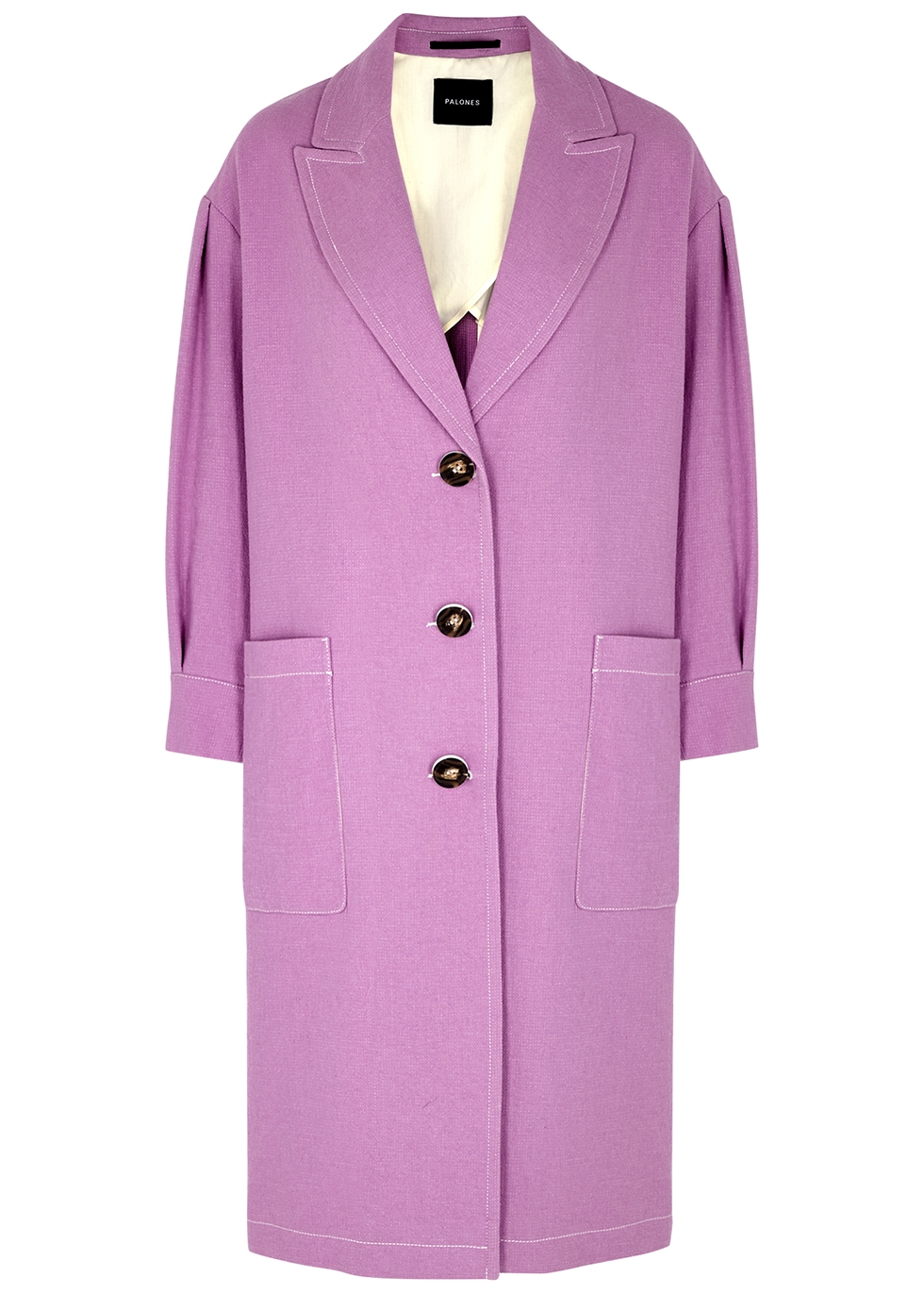 Lilac cotton-blend coat