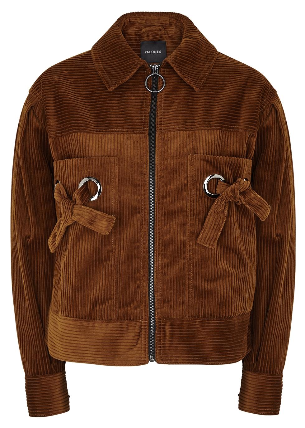 Jumbo chesnut corduroy jacket