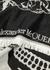Monochrome skull-jacquard wool scarf - Alexander McQueen