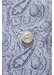 Sky blue paisley poplin shirt - contemporary fit - Eton