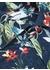 Exotic floral print shirt navy - DUCHAMP LONDON