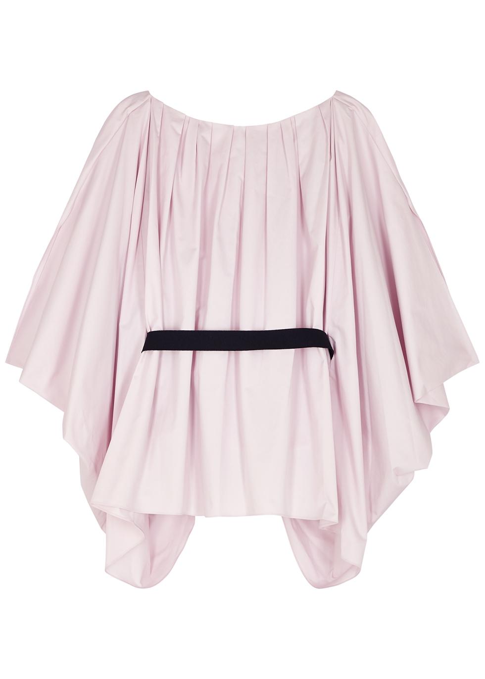 Afra lilac cape-effect cotton top