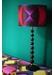 Lavender grid blocks silk & cotton lampshade - Susi Bellamy