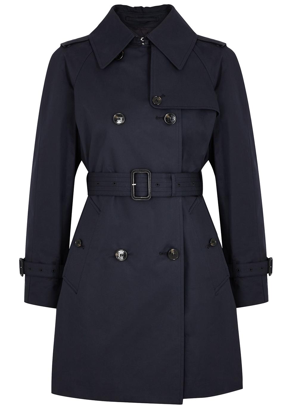 Muie navy cotton trench coat