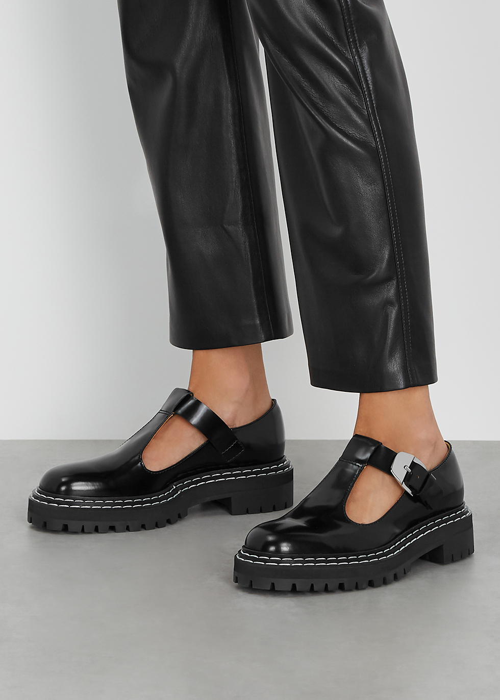 Proenza Schouler Black leather Mary