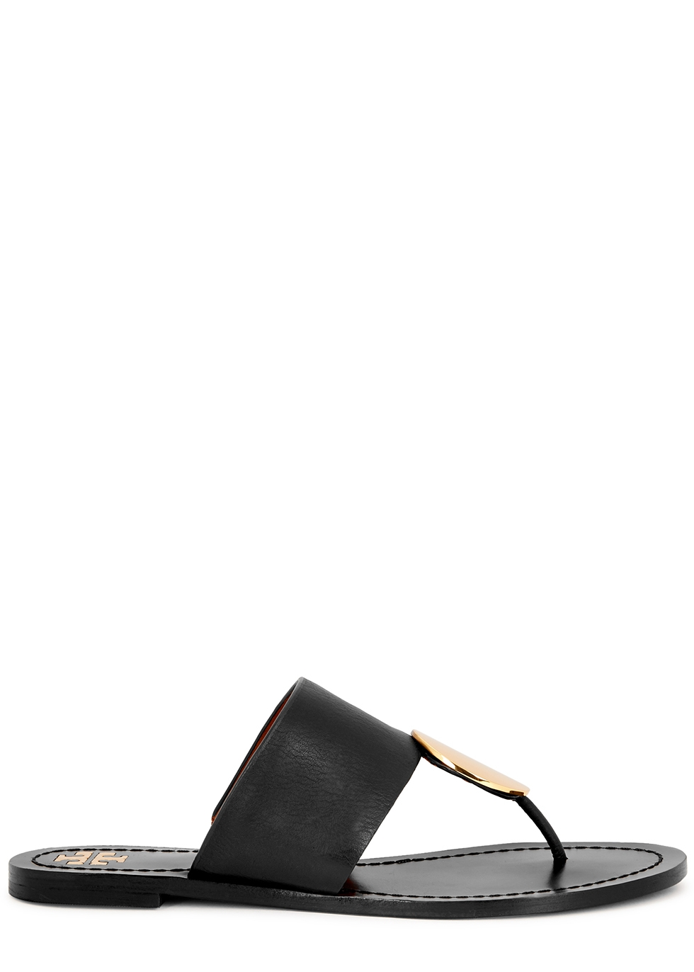 Tory Burch Patos black leather sandals