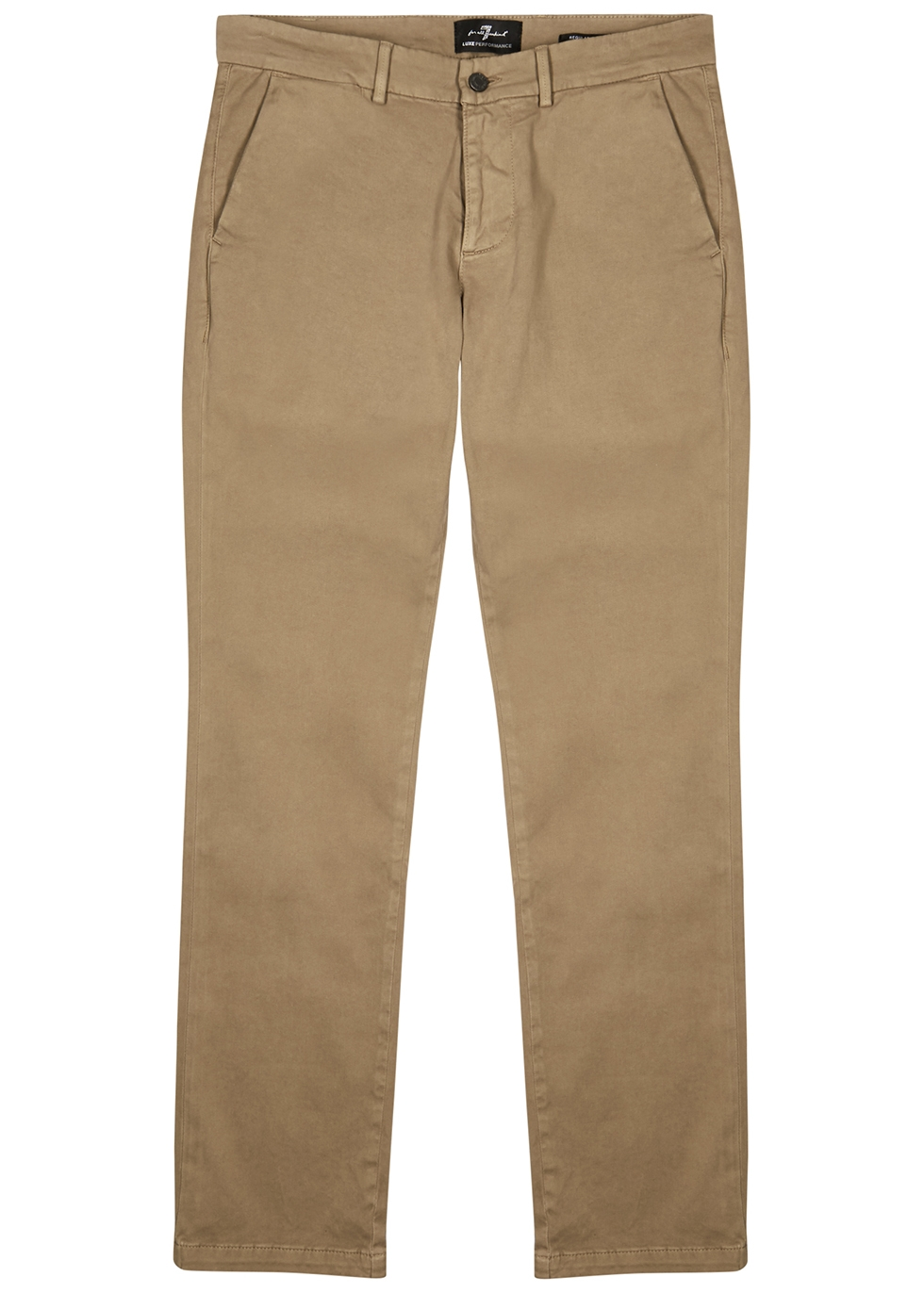 Brown Luxe Performance slim-leg chinos