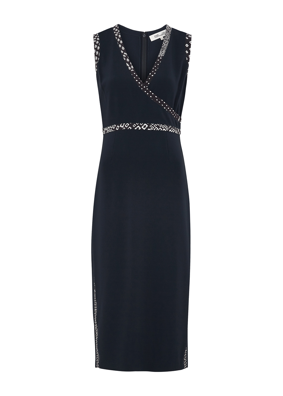 Anissa navy midi dress