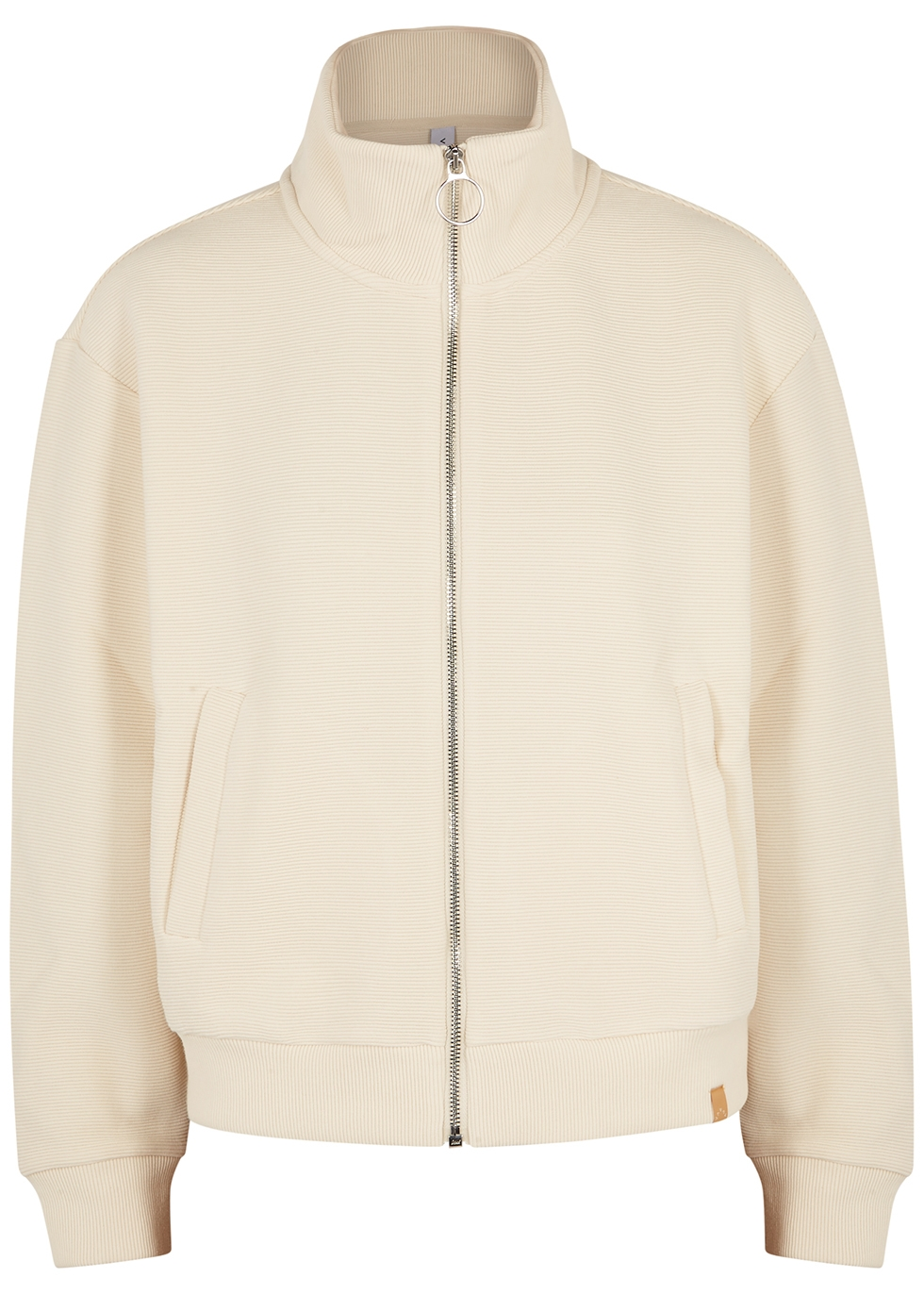 Bloomwood ecru stretch-jersey track jacket