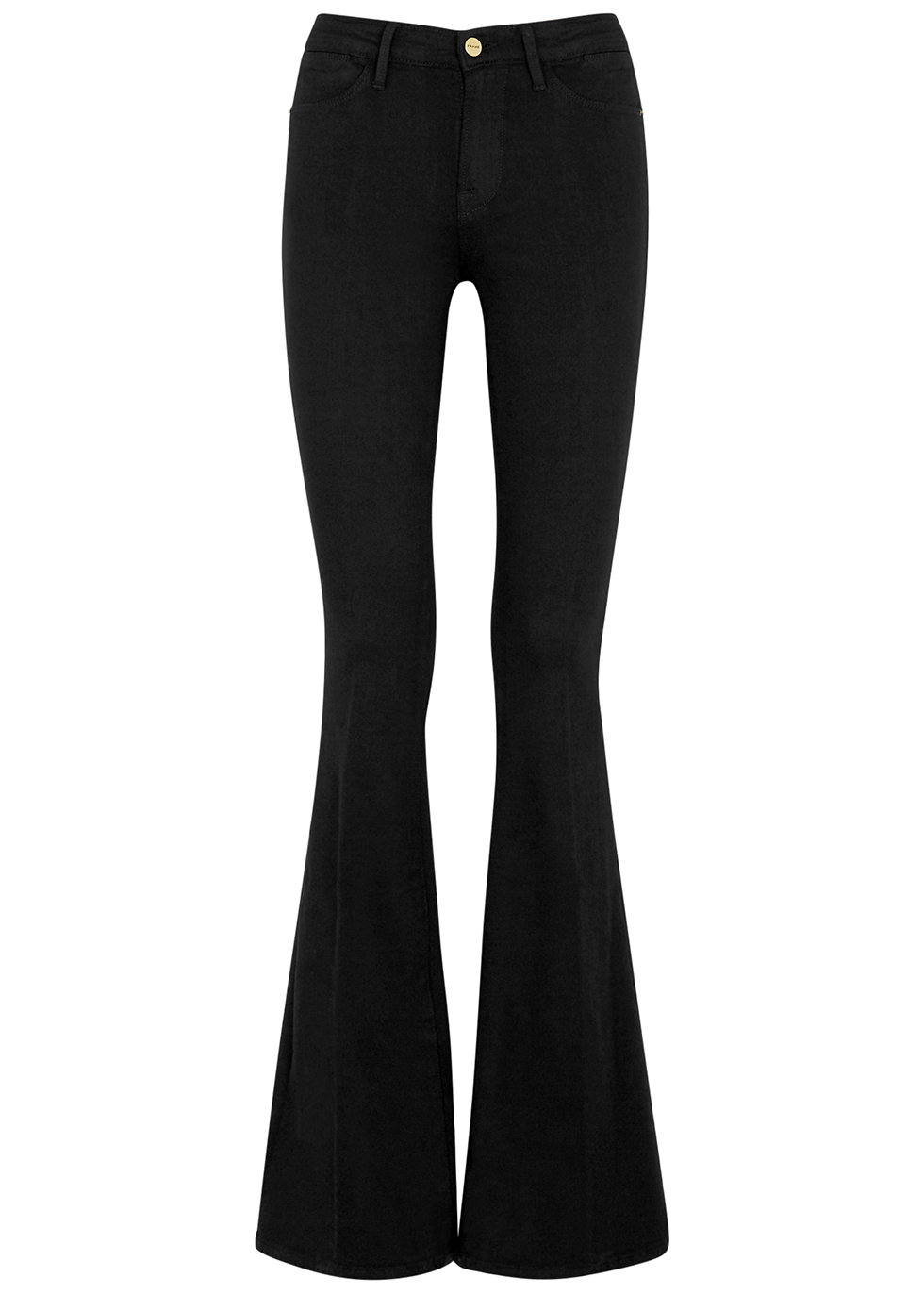 Le High Flare black flared jeans