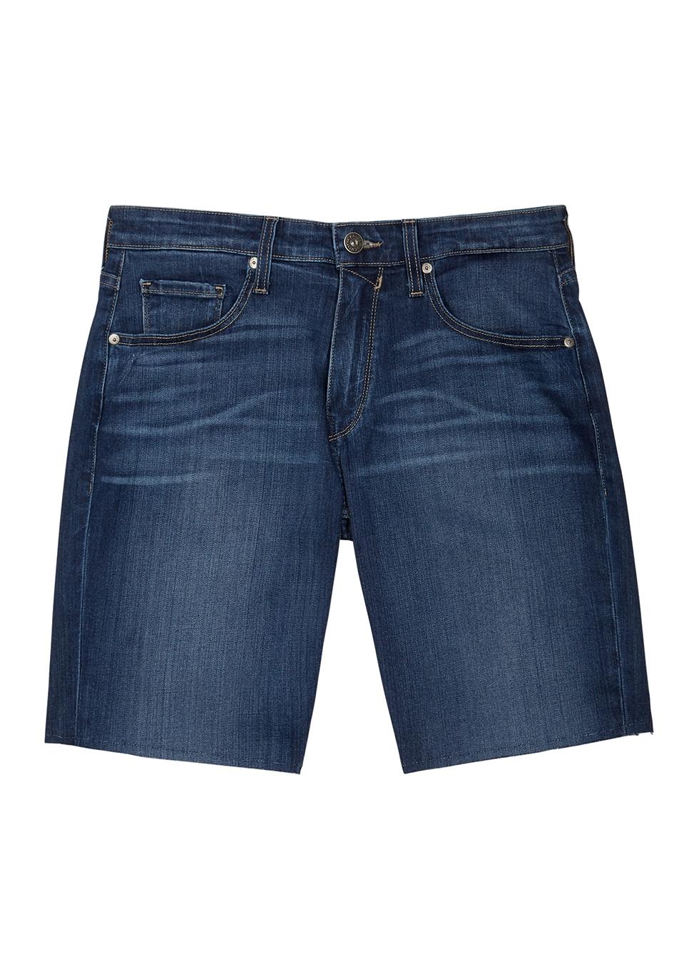 Federal blue denim shorts