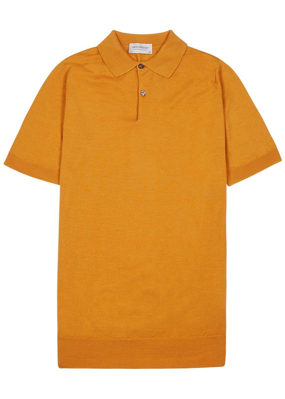 Payton dark teal merino wool polo shirt