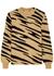 Camel tiger-intarsia wool jumper - Paco Rabanne