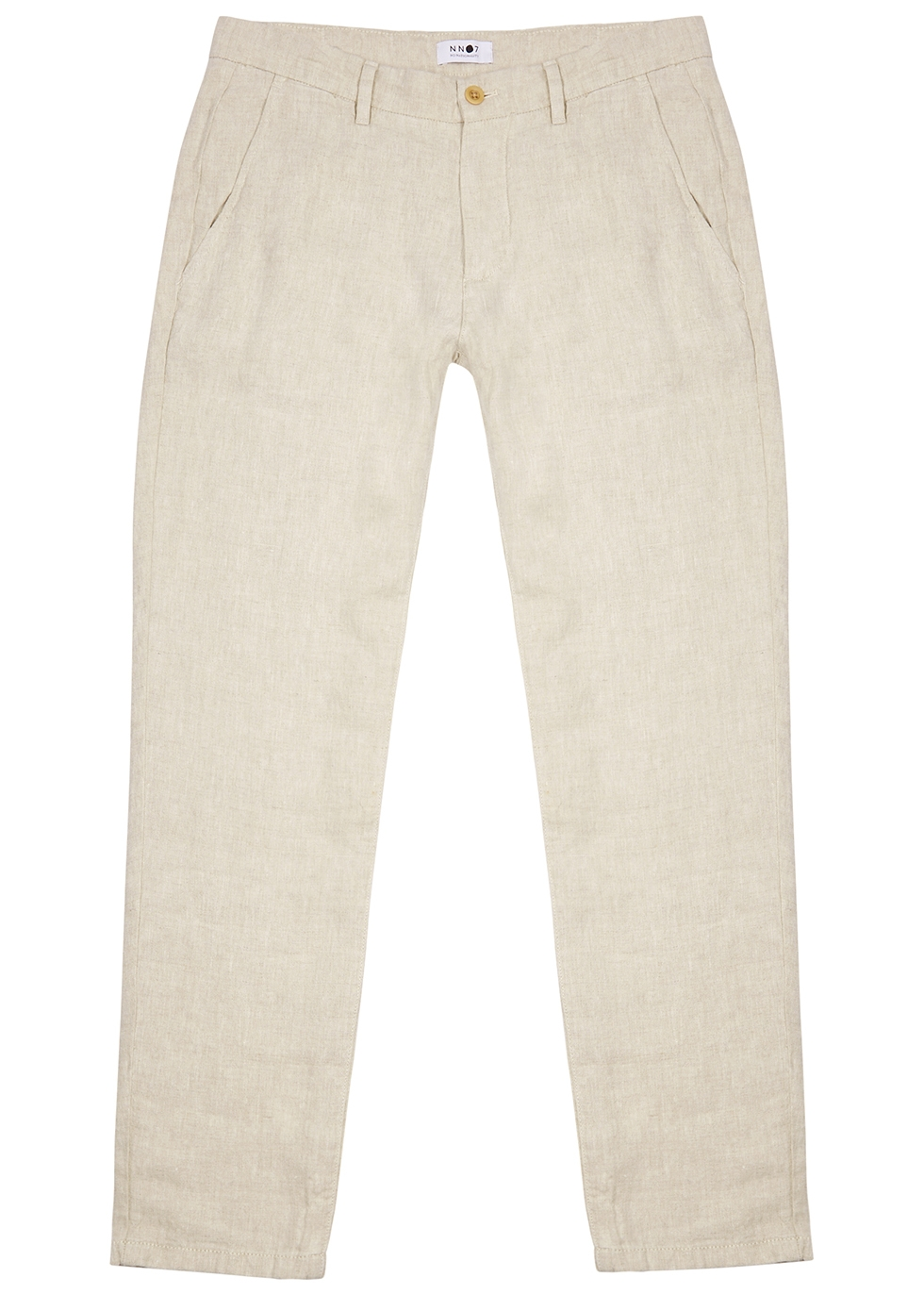 Karl ecru linen trousers