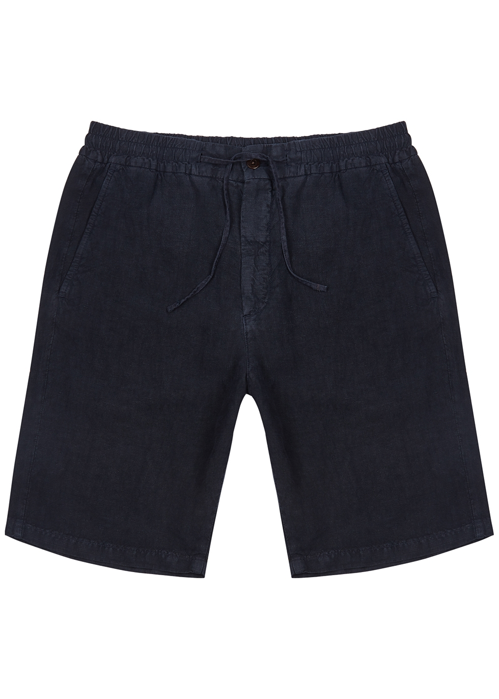 Seb navy linen shorts