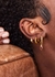 Alice 18kt gold-plated hoop earrings - V by Laura Vann