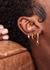 Iris 18kt gold-plated hoop earrings - V by Laura Vann
