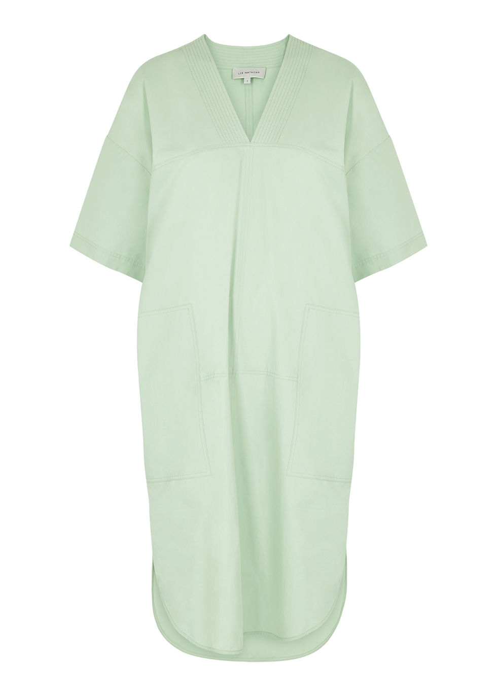 Kei mint cotton mini dress