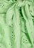 Colby green eyelet-embroidered bikini briefs - Frankies Bikinis
