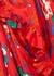 Red floral-print satin maxi dress - Plan C