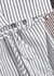 Striped cotton shirt dress - Plan C