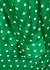 Green polka-dot satin blouse - Plan C
